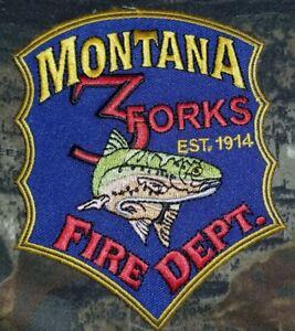 Montana 3 Forks MT Fire Dept Patch