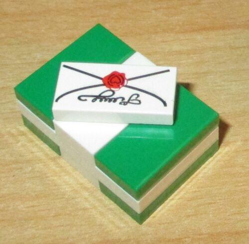 Lego City Figuren Zubehör 1x Geschenk Päckchen grün mit Brief