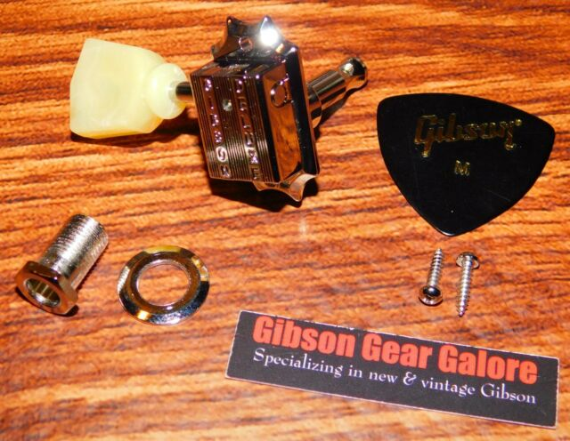 1 GOLD MACHINE HEAD ACOUSTIC OR ELECTRIC GUITAR 3+3  TUNER EAD OR GBE SIDE