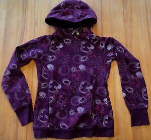 sehr-schoener-violetter-Sweat-Pullover-mit-Kapuze-Gr-M-von-TCM-Baumwollmisch