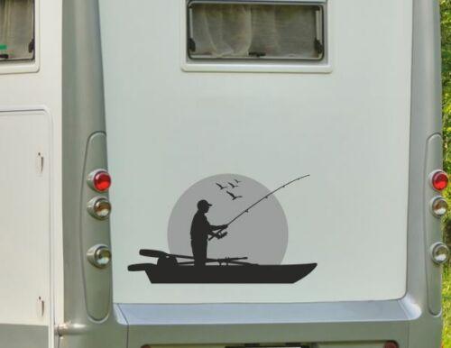 Aufkleber Wohnwagen Wohnmobil Camper Auto Boot Angler Angeln Möwen See Fisch 177