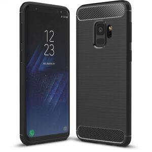 Samsung Galaxy S9 Hoesje Cover Case Zwart TPU Carbon