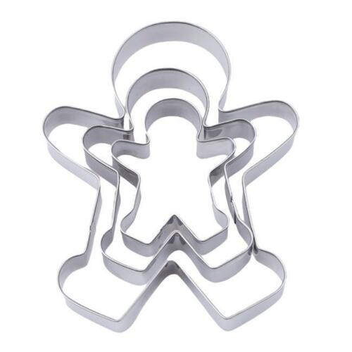 Gingerbread Family Man Cookie Cutter Stainless Steel Biscuit Pastry Icing shan