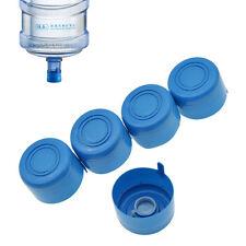 5 Pcs 55mm Gallon Water Bottle Snap On Cap Anti Splash Peel Off Tops Replacement