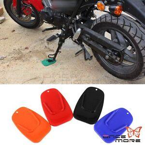 Motorcycle Bike Kickstand Side Stand Plate Pad For Yamaha Honda Harley Universal