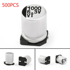 500x 6.3V 1000uF 8*10.5mm +-20% SMD Condensatori elettrolitici Chip E-Cap IT