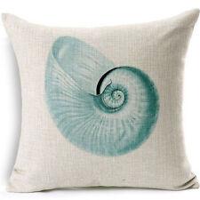 U.S. SELLER Beach Shell Conch Print Home Bed Decor Pillow Throw Cover Case