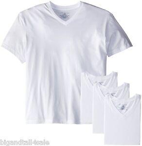 Tommy Hilfiger White 4 Pack V Neck Under T Shirts 2x 3x 4x