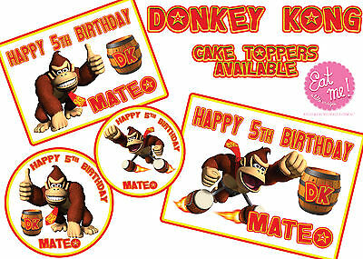 Incredible Donkey Kong Personalised Customised Edible Image Real Icing Funny Birthday Cards Online Amentibdeldamsfinfo