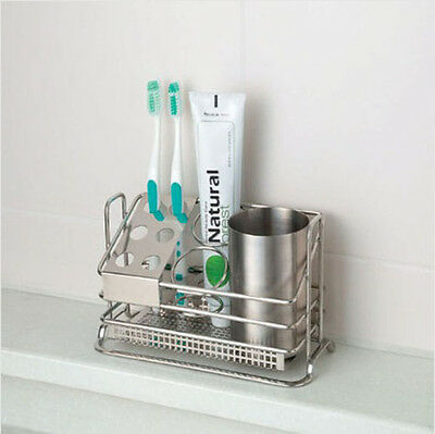 Toothbrush Holder Stand Organizer Bathroom toothpaste Simple Sturdy design Korea