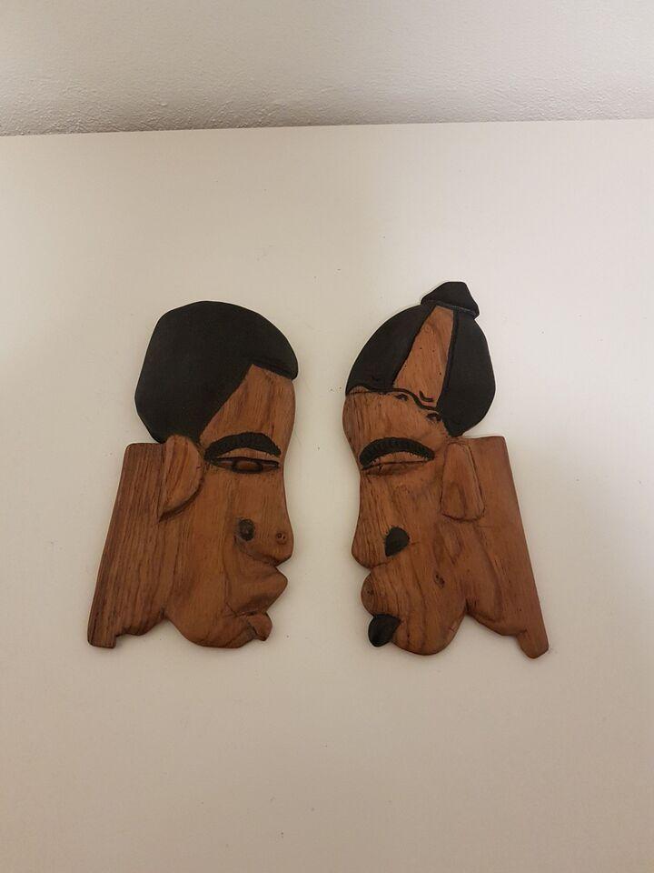 Masker i træ til vægophæng