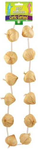 Unisex Hawaiian FRENCHMAN Garlic Garland Necklace BASTILLE DAY GARLAND NECKLACE