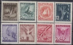 AUSTRIA-POST-WWII-ANTI-FASCISM-ANTI-NAZI-Set-MNH