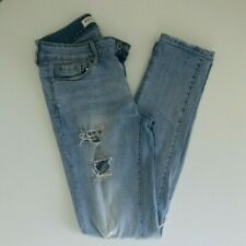 69be9d38996 Bullhead Denim Co. Pacsun Womens Low Rise Skinny Distressed Blue Jeans Size  3