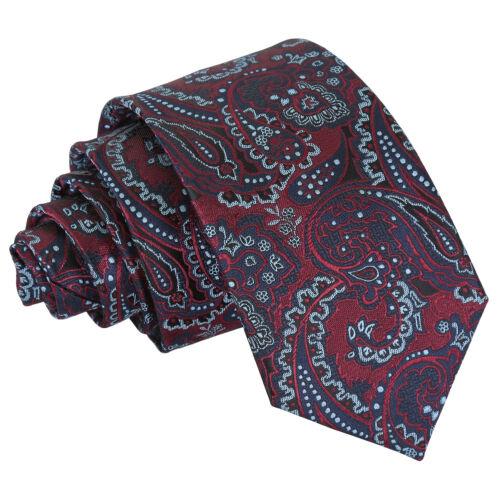 DQT Woven Floral Royal Paisley Formal Wedding Groom Best Man Mens Slim Tie