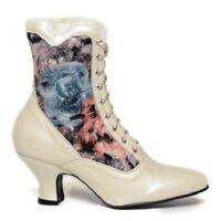 White Oak Tree Farms Veil Pearl Rose Victorian Wedding Granny Boots Boot 6