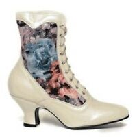 White Oak Tree Farms Veil Pearl Rose Victorian Wedding Granny Boots Boot 8