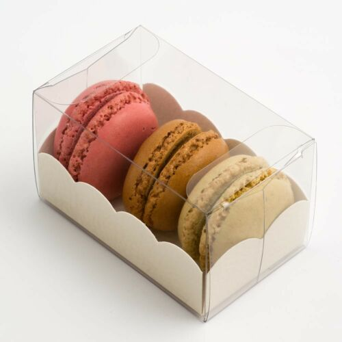 Macaroon Transparent Box Wedding Party Favours Boxes Pack of 10