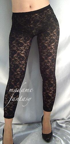 Madame Fantasy Black Lace Leggings XS S M L XL XXL XXXL