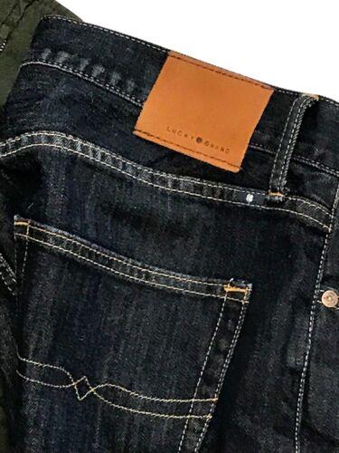 Lucky Leg Jeans 32 Denim Straight Cotton Zip Size Blue Brand Fly 34 Mens rq4Erp7