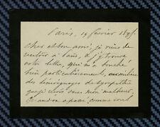 -== de RICHEMONT - Carte autographe signée - 1895 ==-