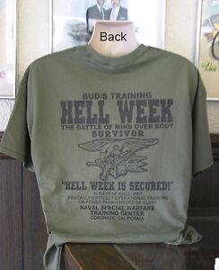 Details about U S Navy Seals Hell Week T-Shirt DEVGRU Seal Team 6 Six Buds  Patriotic Gift New