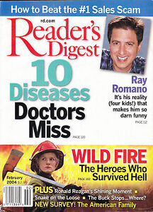 Magazine-Reader-039-s-Digest-February-2004-Ray-Romano-10-Diseases-Doctors-Miss