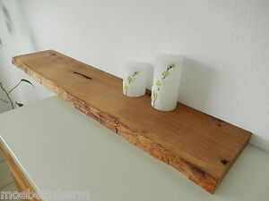wandboard eiche wild massiv holz board regal steckboard regalbrett baumkante ebay. Black Bedroom Furniture Sets. Home Design Ideas