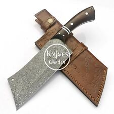 "13"" Damascus Steel Meat Cleaver Chef Knife Butcher Chopper Full Tang Rain Drop"