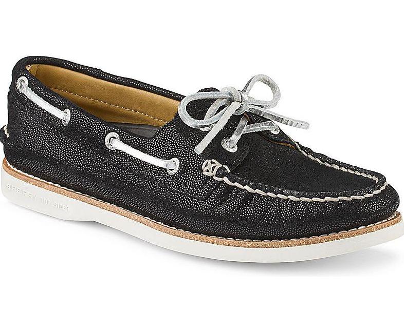 Sconto del 70% Sperry Sperry Sperry Top Sider oro Slip On scarpe nero donna Sz 11 M 1379  acquista la qualità autentica al 100%