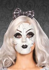 Womens Gothic Halloween Broken Doll Mask