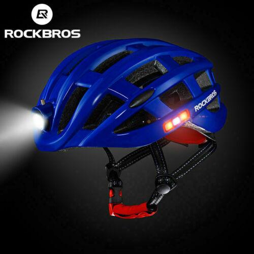 ROCKBROS Cycling Ultralight Bike Helmet USB Recharge Light Size 57-62cm