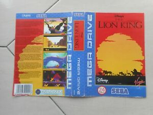 Cover Only For Empty Box Genuine Original Vintage The Lion King Sega Megadrive
