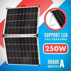 250W 12v Folding Solar Panel Kit Mono Portable Caravan Camping Controller USB