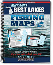 Michigan's Best Lakes Fishing Maps Guide Book | Sportsman's Connection