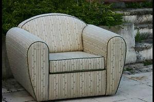 Paire de fauteuil club tissu pair of club chair