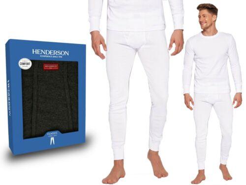 Herren Unterhose Thermohose HENDERSON BASIC Thermoprotection weiß 100/% Baumwolle