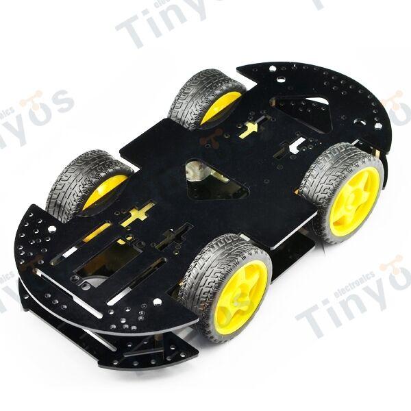 4WD 4Drive  Robot Smart Car Chassis Mobile Platform Kit