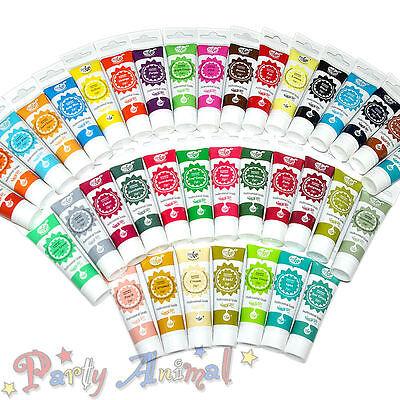 Dedito Rainbow Dust Pro-gel Commestibile Set Completo Di 37 Colorante Alimentare 25g-sugarcraft Torta Decor-