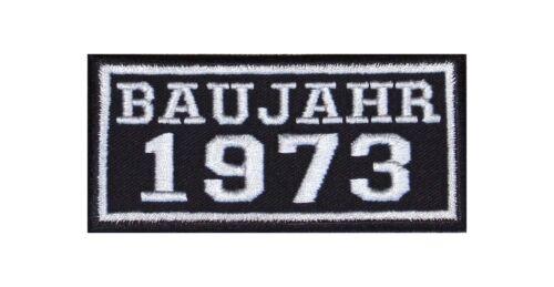 Anno di costruzione 1973 Biker Patch ricamate anni numero anno di nascita ROCKER MOTO MC BJ