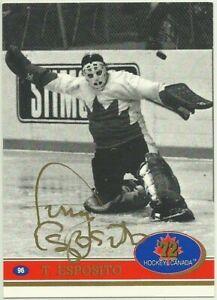 1991-92-FUTURE-TRENDS-CANADA-TONY-ESPOSITO-SSP-SWIRL-039-72-GOLD-LETTERS-AUTOGRAPH