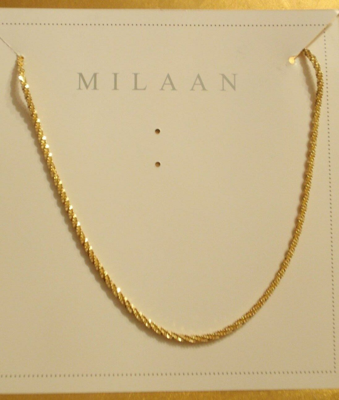 Milaan Italian 30  14KYG over Sterling Chain