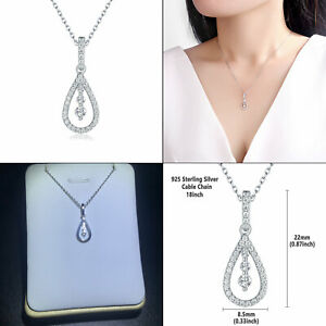 Newshe-Pendant-Chain-Necklace-For-Women-0-5ct-925-Sterling-Silver-Round-White-Cz