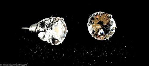 9mm//Diamante Cristal Cuadrado Redondo Aretes Par 5 7 Gratis Bolsa De Gamuza