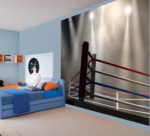Cool boxing wrestling ufc anneau Kids Boys wallpaper wall mural