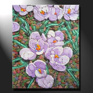 Original mosaic artwork painting porcelain spring time flowers art GeeBeeArt