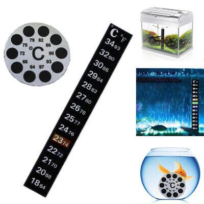 5//10x Aquarium Fish Tank Thermometer Temperature Sticker Stick-on Fahrenheit US