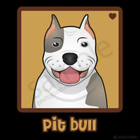 Pit Bull Cartoon T-shirt Tee - Men's, Women's, Youth, Tank, Short, Long Sleeve