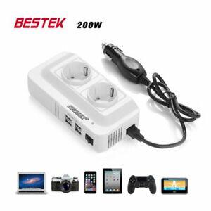 250 Volt beschermd gemengd omvormerblok en 5 Volt USB op sigarettenaansteker 200
