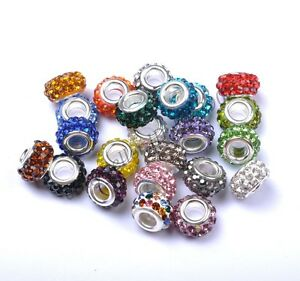 Big-Hole-Czech-Crystal-Rhinestone-Pave-Rondelle-Spacer-Beads-Fit-European-Charms